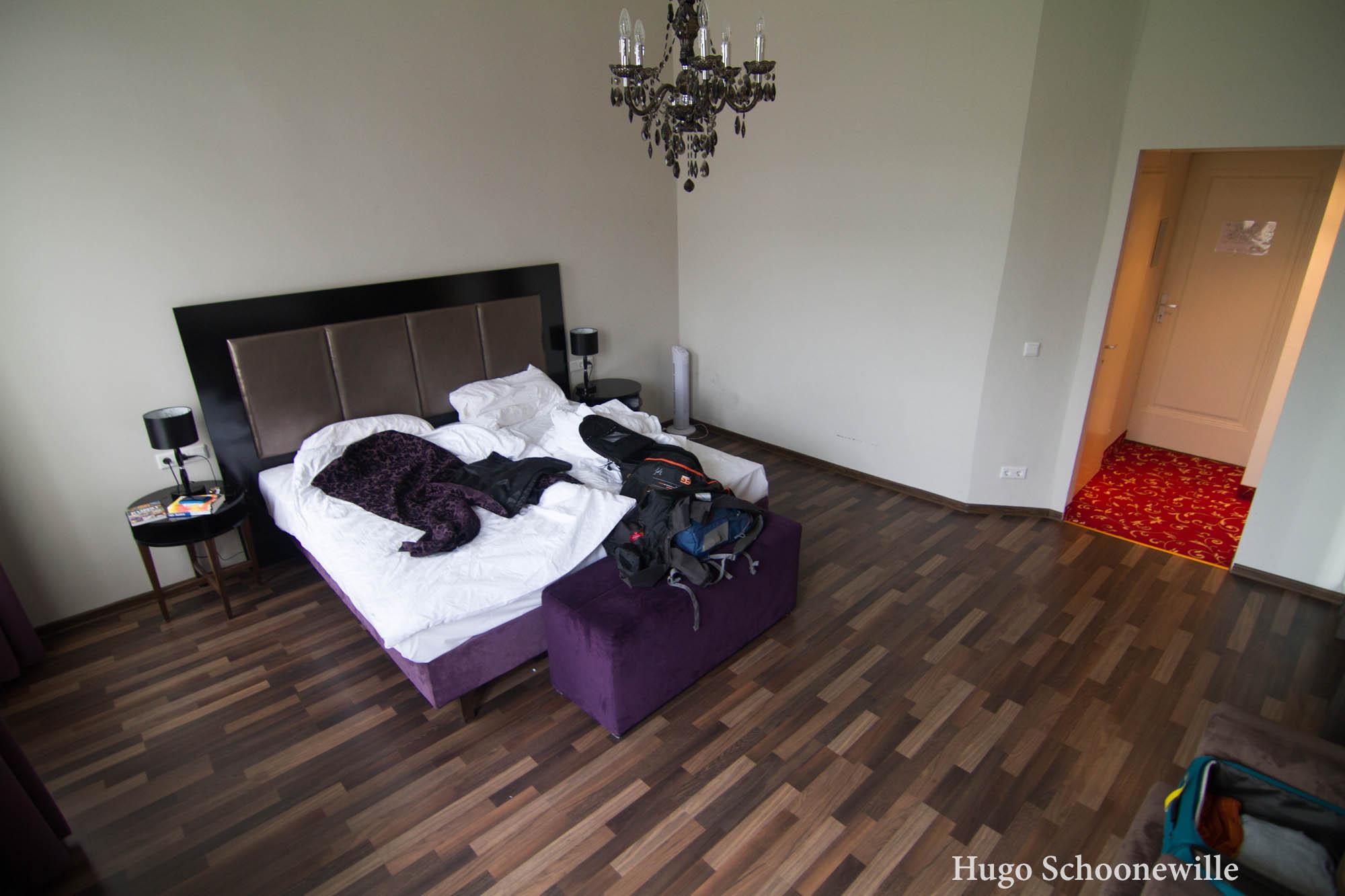 Hotelkamer in Pension Baron am Schottentor in Wenen met tweepersoonsbed