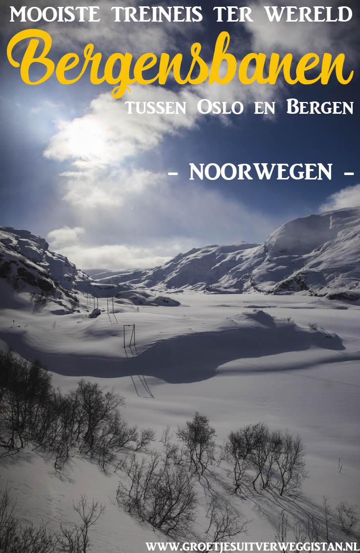 Benieuwd hoe jij de mooiste treinreis kunt maken? Tussen Oslo en Bergen rijdt de Bergensbanen in Noorwegen. Een uitgebreide gids over de treinreis Bergensbanen in Noorwegen en hoe je deze kunt maken. #noorwegen #train #oslo #bergen
