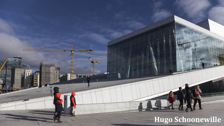 Het moderne Operahuset in Oslo.