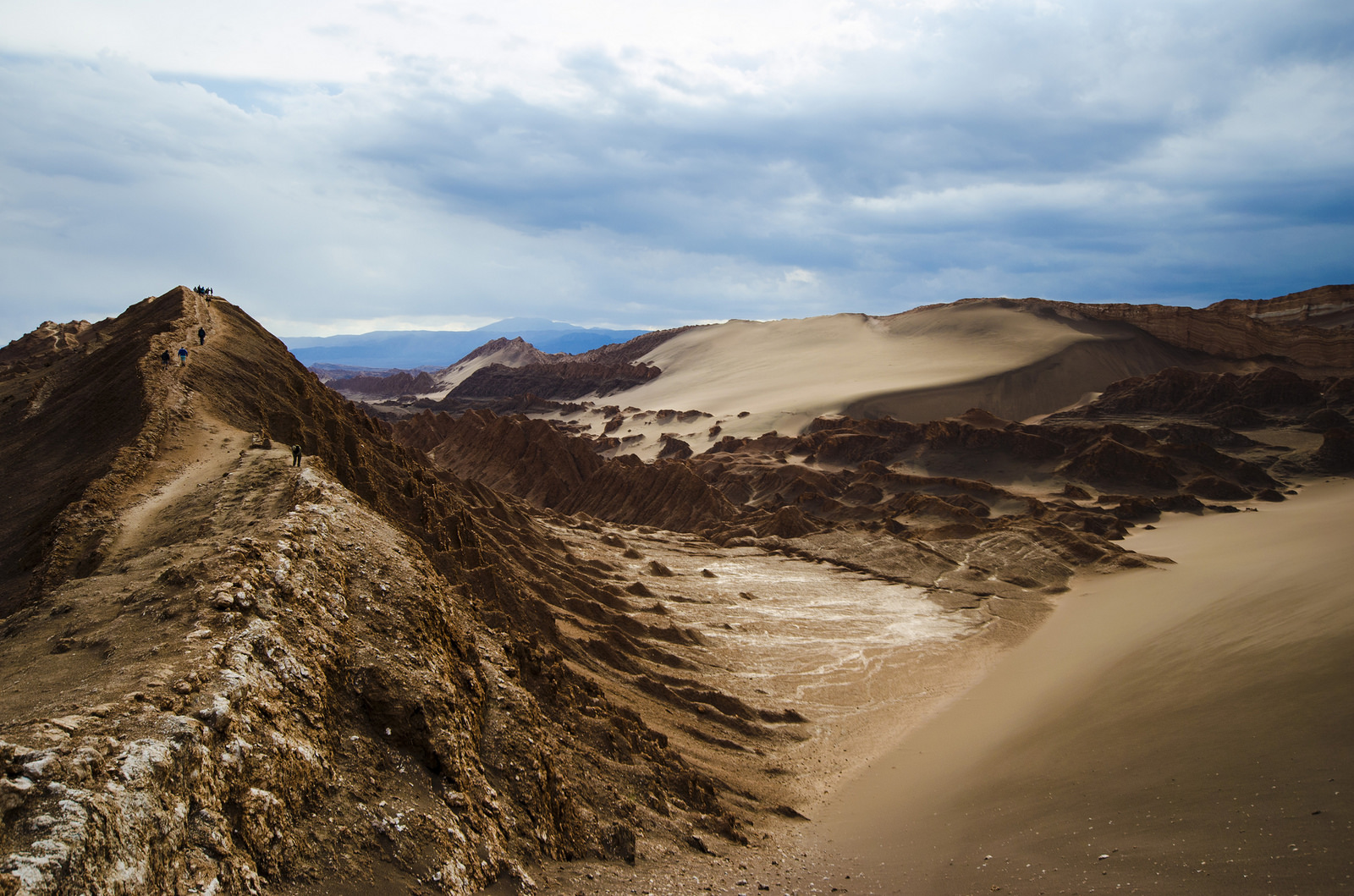 Stockfoto van de woestijn van San Pedro de Atacama in Chili.