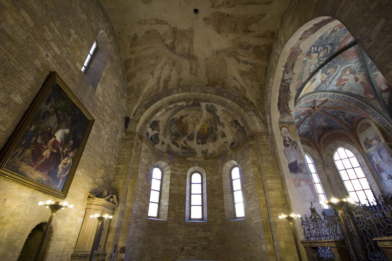 Plafonds in de St. George Basilica in de Burcht van Praag