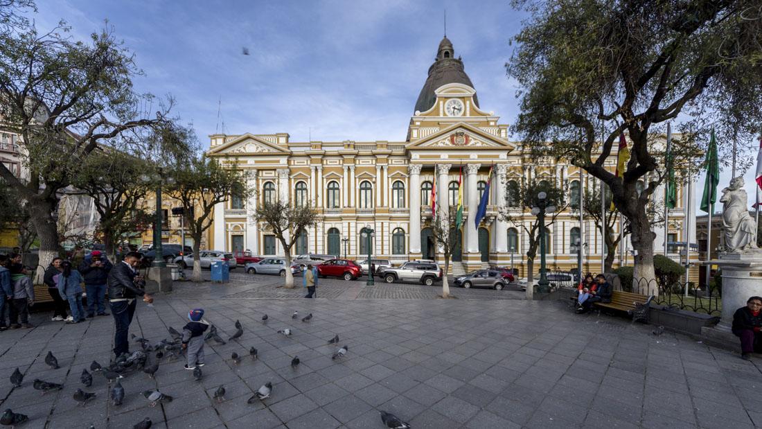 Overheidsgebouw op Plaza Murillo in La Paz