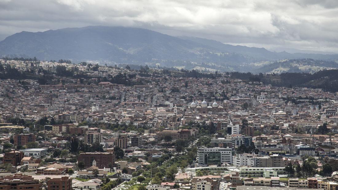 Uitzicht over de stad Cuenca vanaf Mirador de Turi