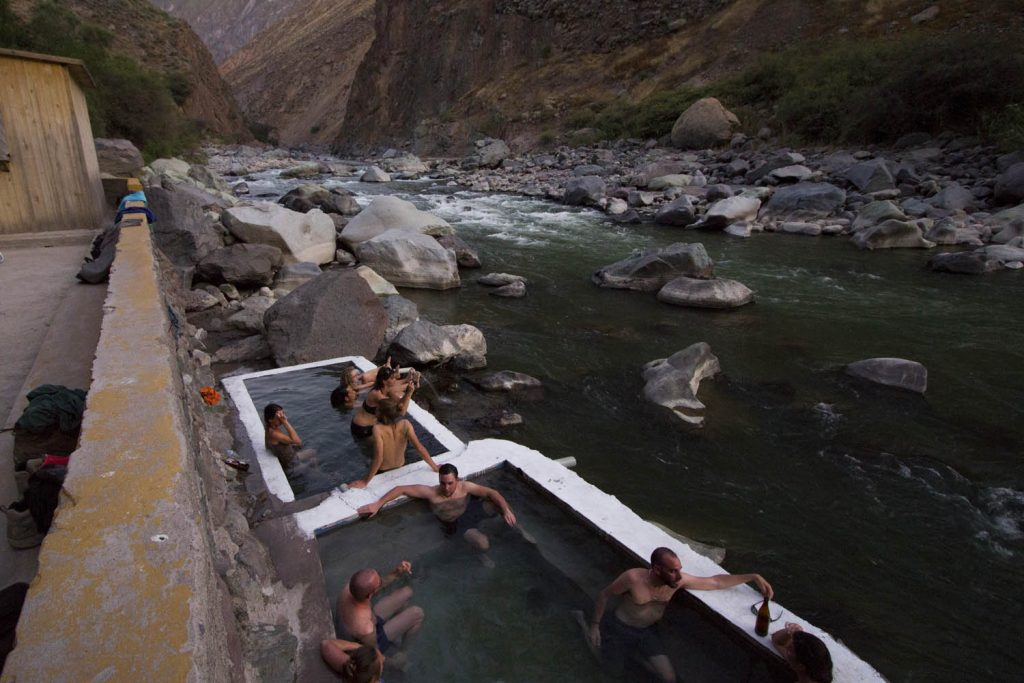 Hot springs Llahuar