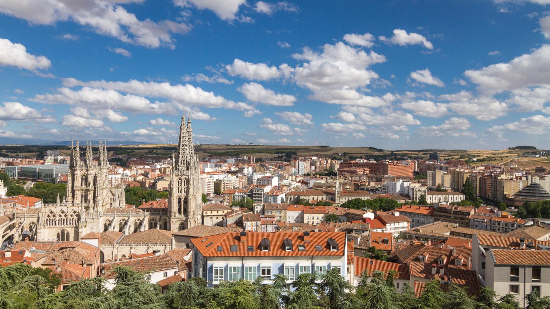Uitzicht over Burgos met de kathedraal