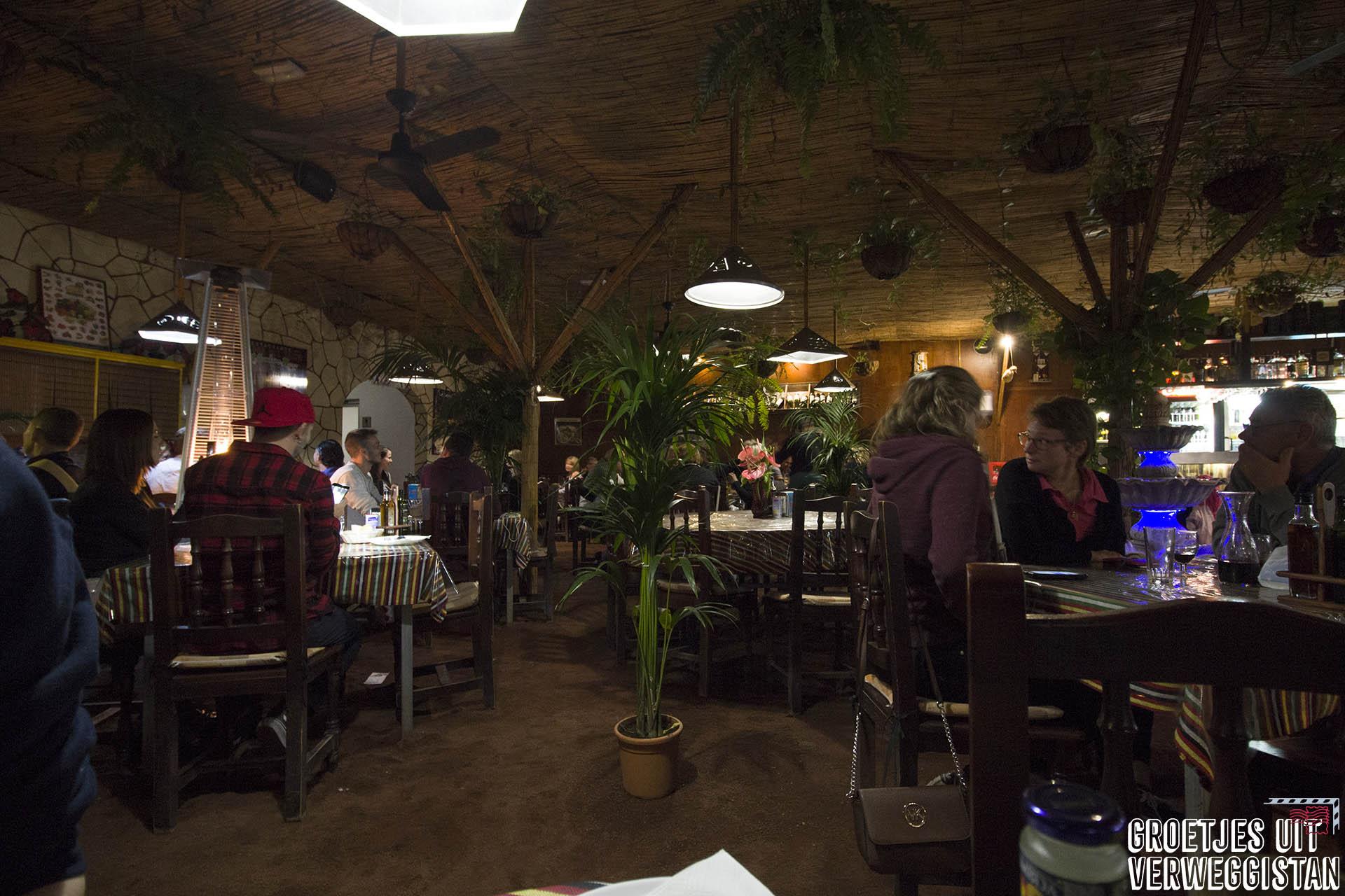 binnenkant restaurant El Cordero