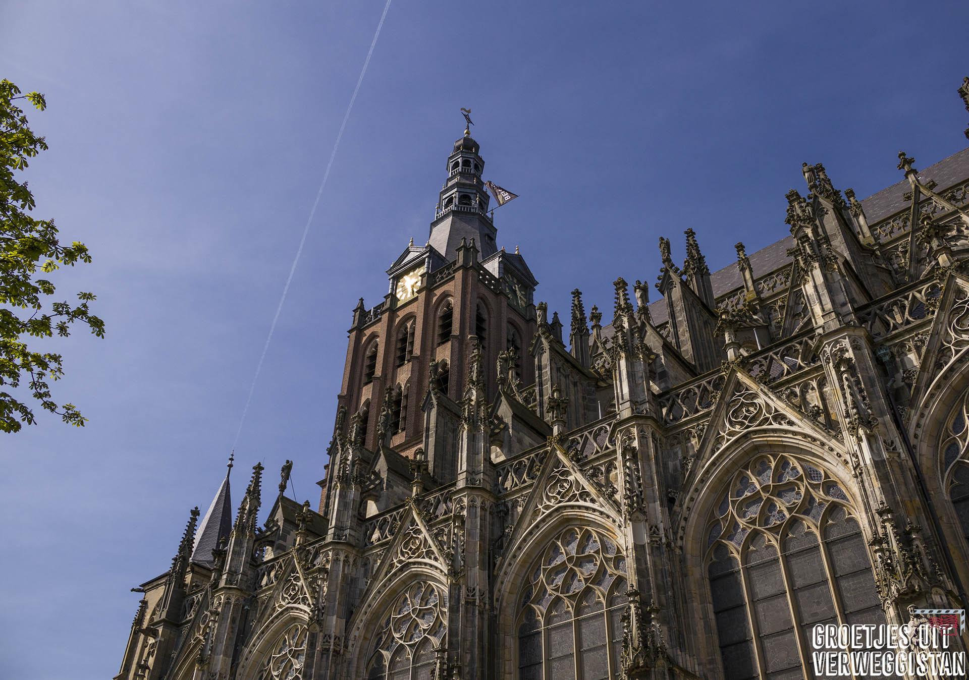 De buitenkant van de gotische Sint-Janskathedraal in Den Bosch.