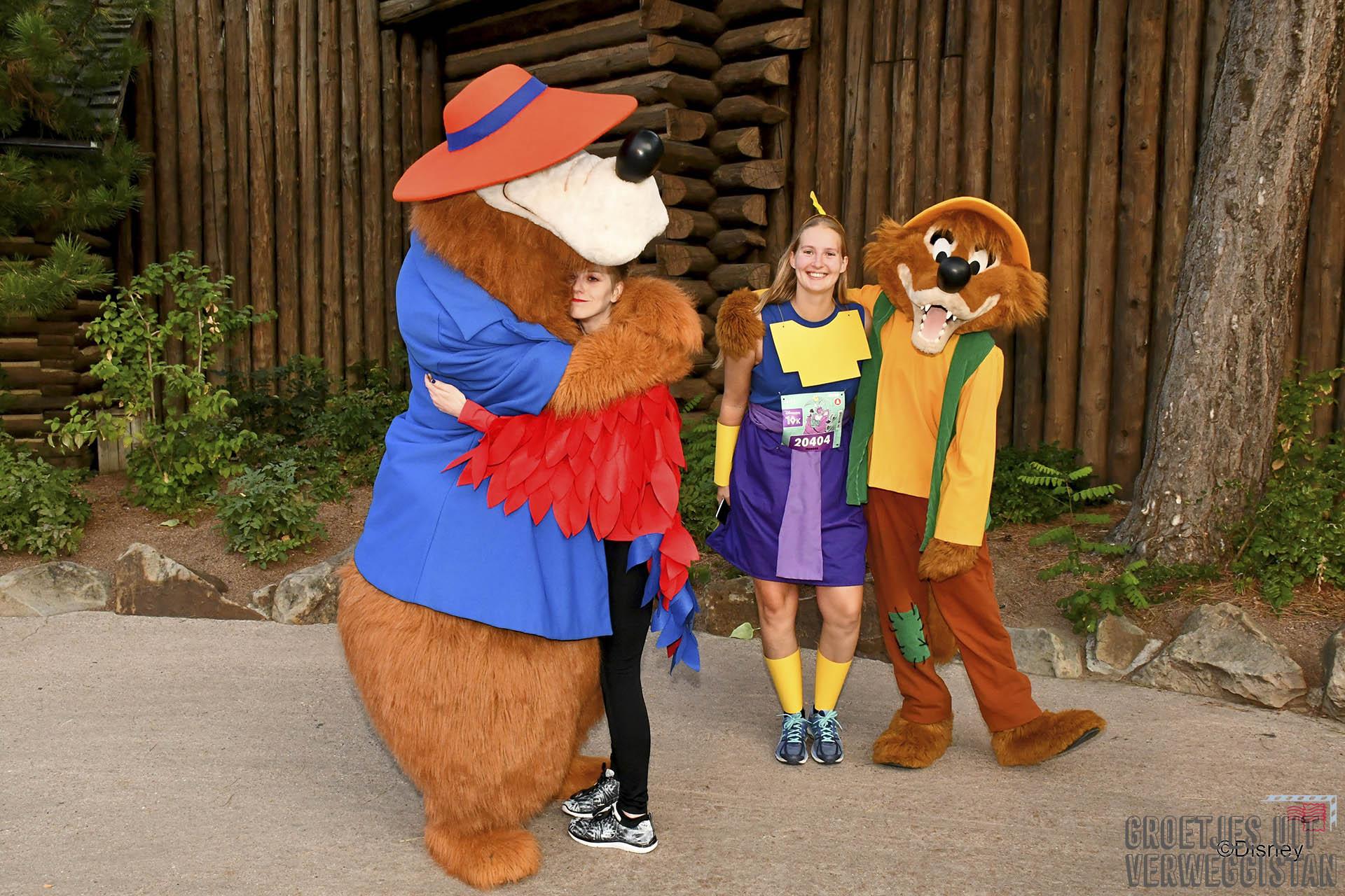 Hardlopen in Disneyland Parijs: op de foto met characters tijdens de race