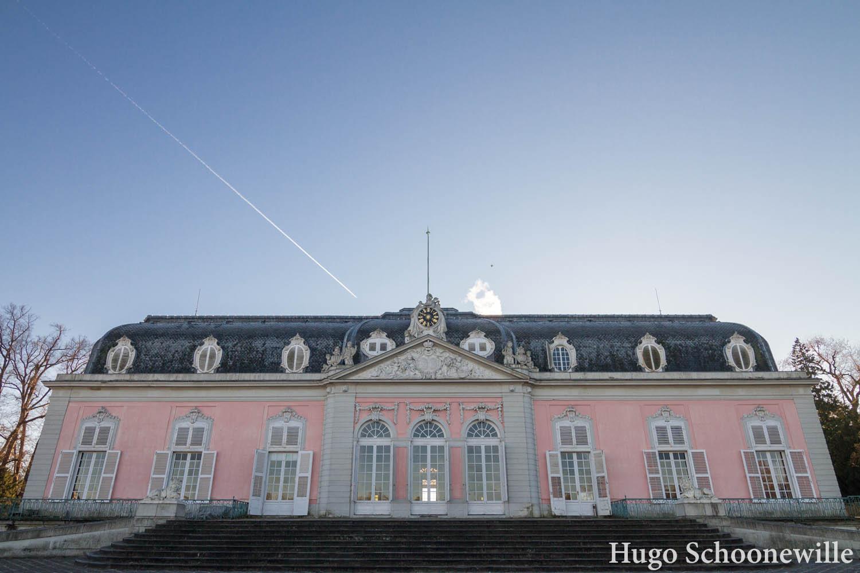 Wat te doen in Düsseldorf: het roze paleis Schloss Benrath in Düsseldorf.