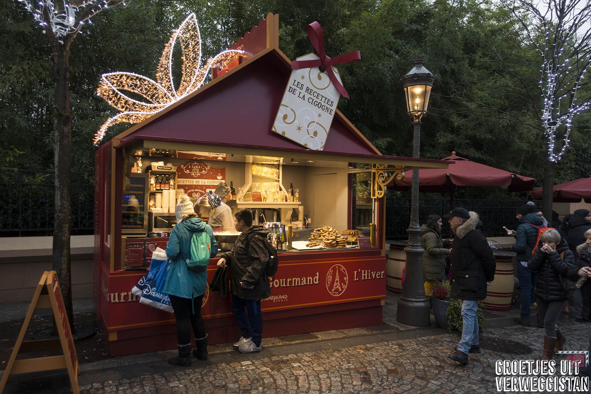 Kraampje van L'Hiver Gourmand, foodfestival in Walt Disney Studios in Parijs