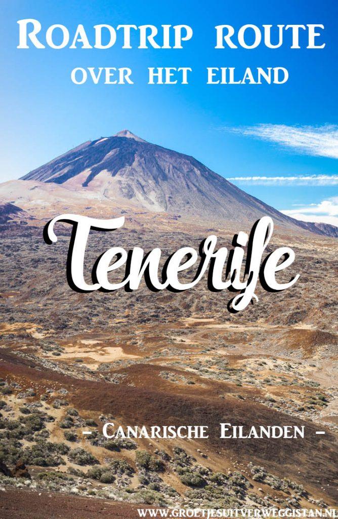 Uitzicht over vulkaan El Teide op Tenerife in Parque Nacional del Teide.