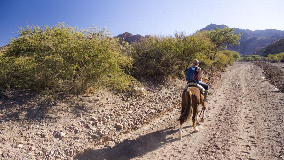Paardrijtocht door het Wilde Westen landschap van Tupiza in Bolivia: rondreis Bolivia in 2 weken