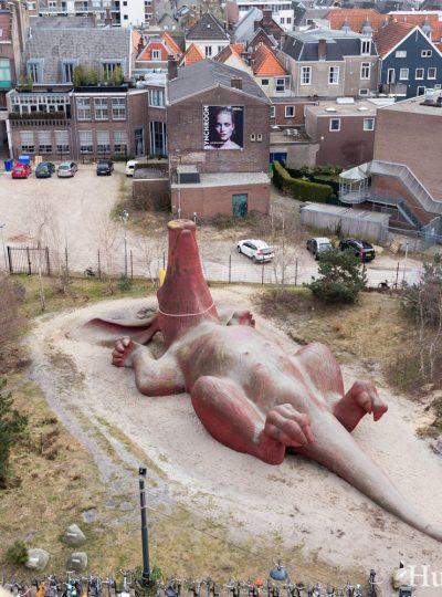 Het Feestaardvarken van Arnhem, gezien vanaf boven vanaf Rozet