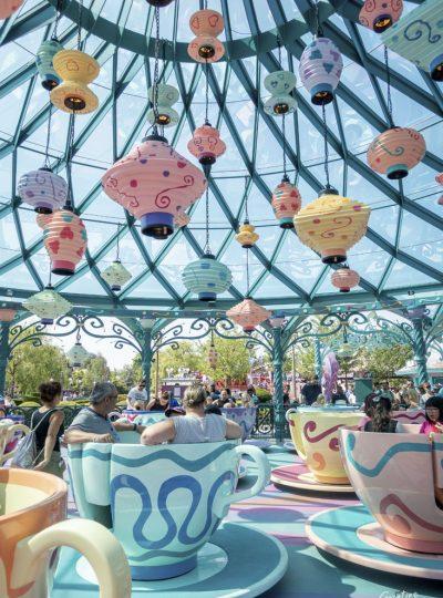 De theekopjesattractie in Disneyland Paris