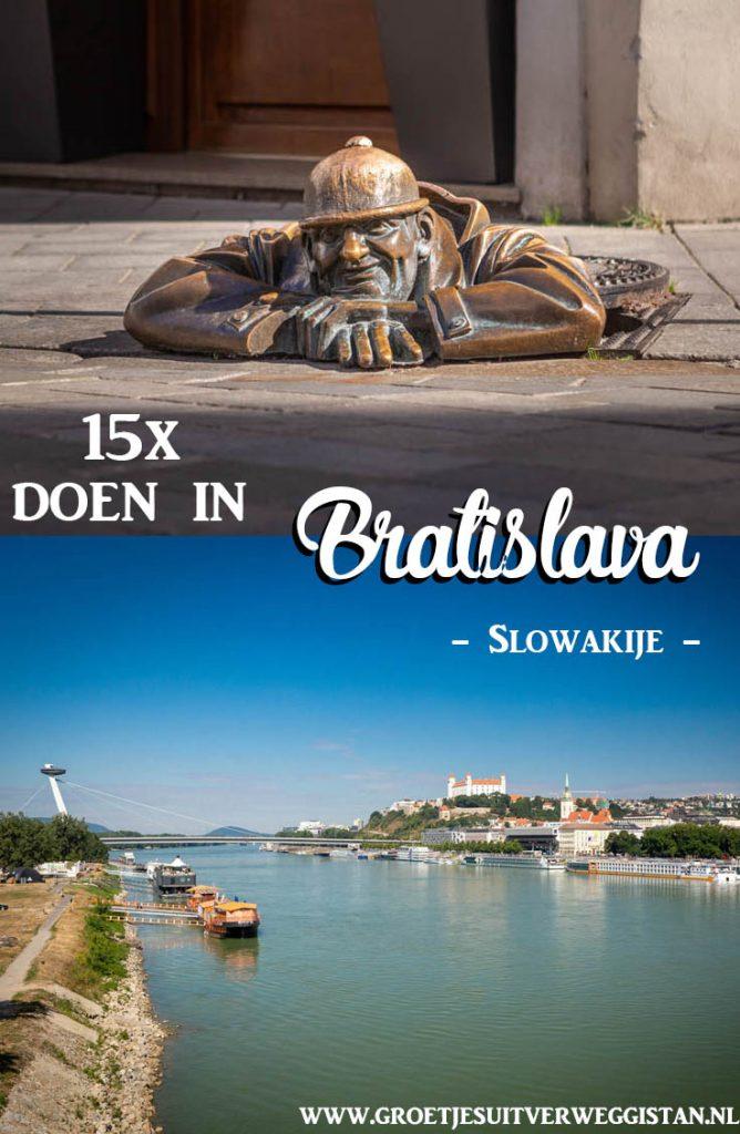 Pinterestafbeelding: 15x doen in Bratislava