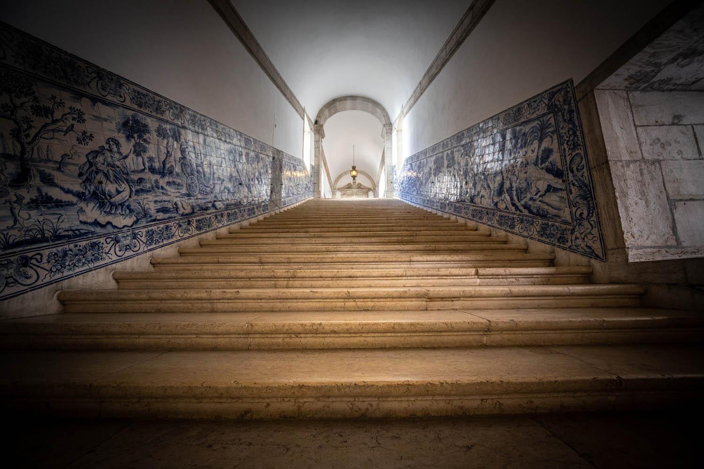 Trap in het museum Museu Nacional do Azulejo.