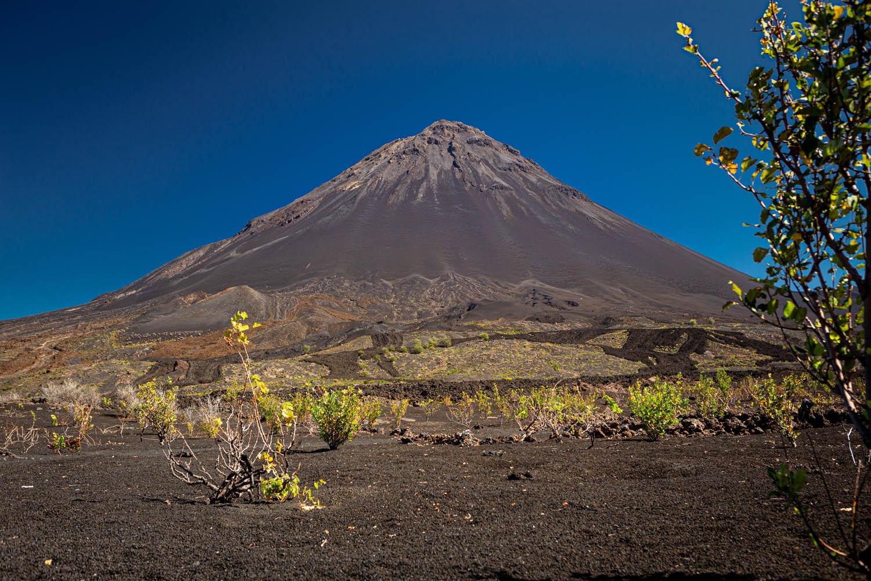 Pico de Fogo: de grote vulkaan op het Kaapverdische eiland Fogo.