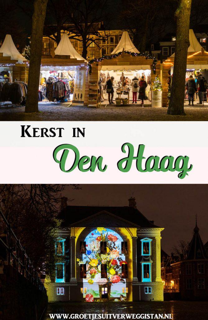 Pinterestafbeelding: kerst in Den Haag, met foto's van de kerstmarkt