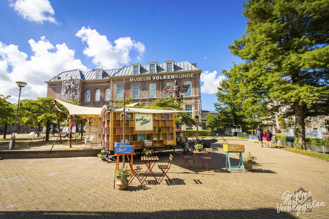 Het pop-up Streekhuisje voor Museum Volkenkunde in Leiden