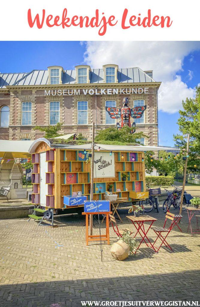 Pinterestafbeelding: het Streekhuisje tijdens een weekendje Leiden