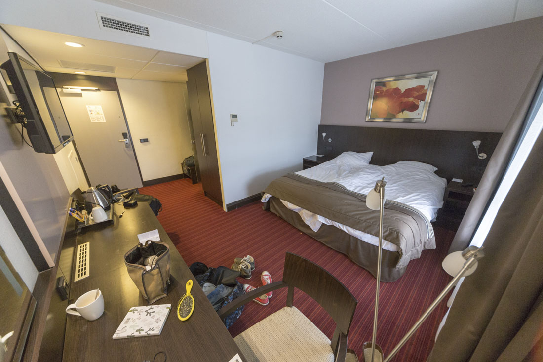 Hotelkamer in het Oranje Hotel in Leeuwarden