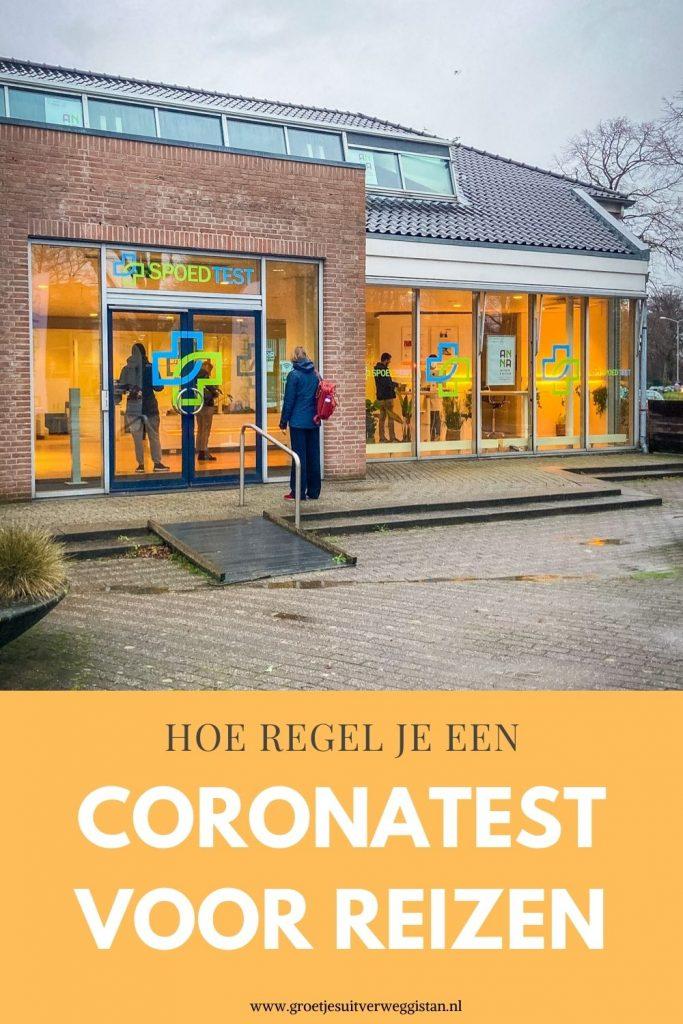Pinterestafbeelding: hoe regel je een coronatest voor reizen?