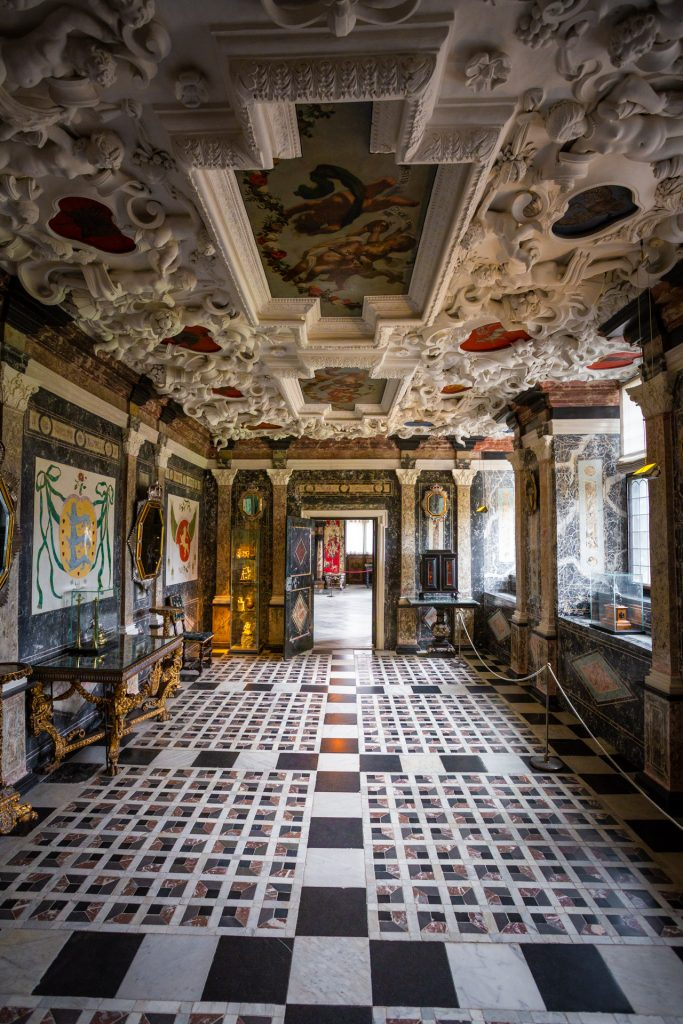 Het interieur van Rosenborg in Kopenhagen