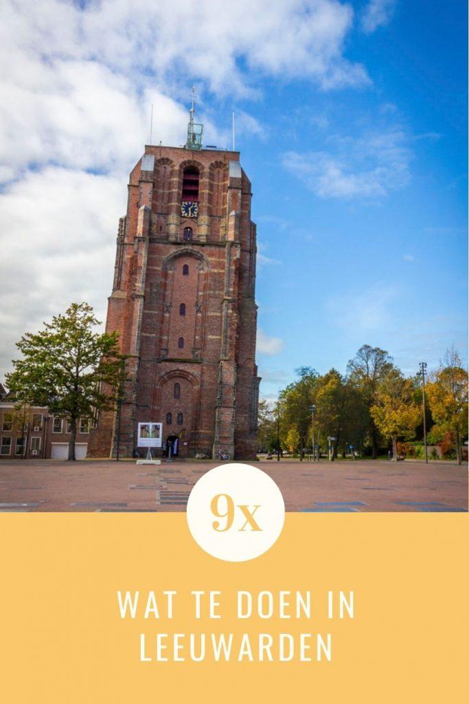 Pinterestafbeelding: Oldehove in Leeuwarden