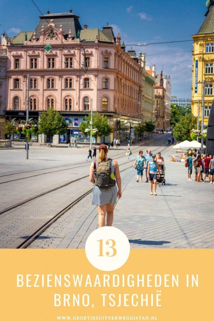 Pinterestafbeelding: 13 bezienswaardigheden in Brno, Tsjechië