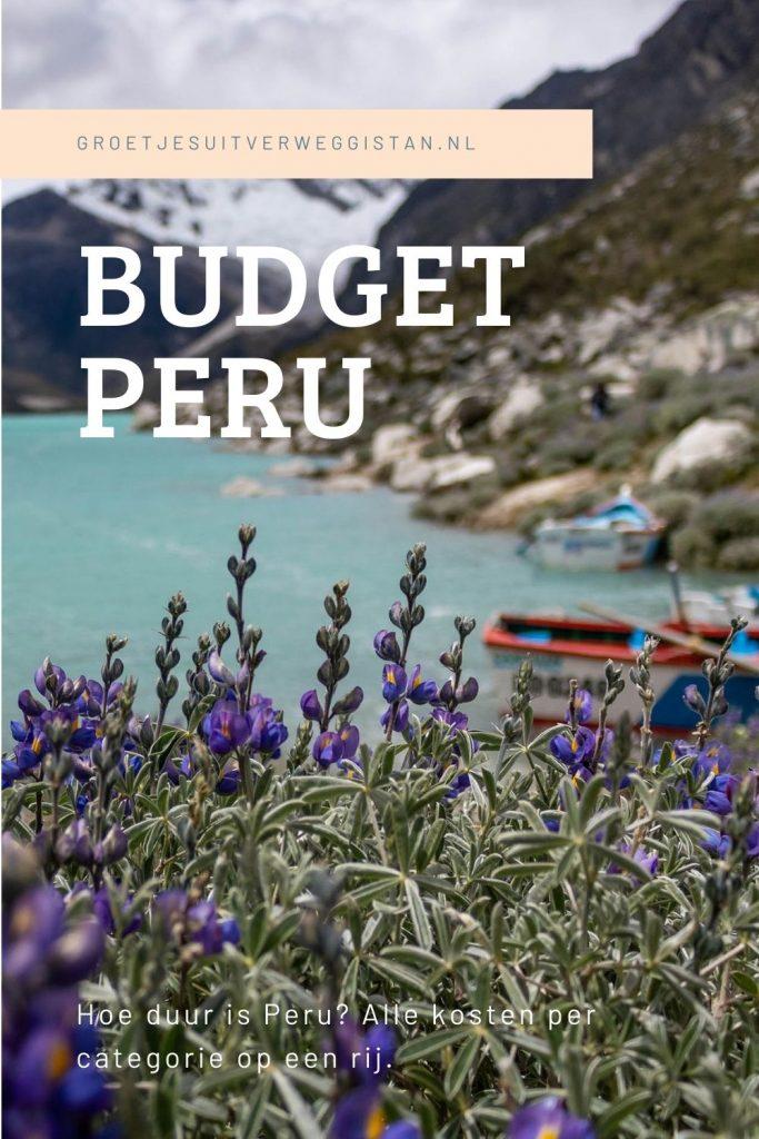 Pinterestafbeelding Budget Peru: hoeveel kost reizen door Peru?