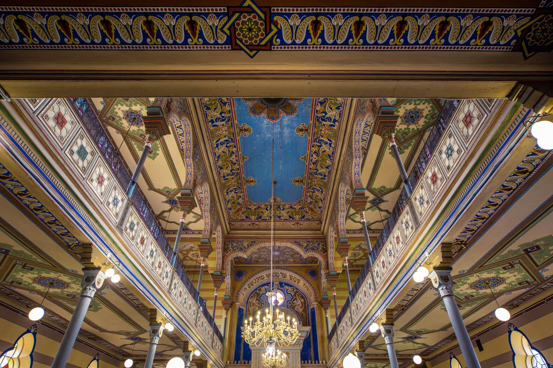 Interieur van de synagoge van Presov.