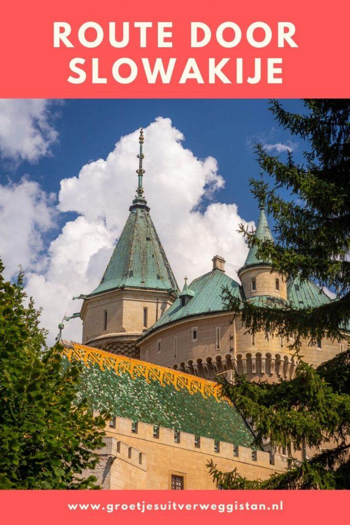 Pinterestafbeelding: route door Slowakije langs alle highlights van het land.
