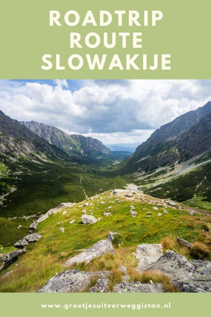Pinterestafbeelding: roadtrip route Slowakije, de leukste autoroute door Slowakije.