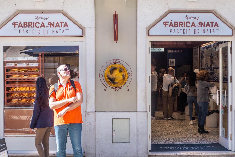 Gevel van Fabrica da Nata in Lissabon